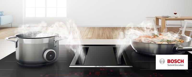 Bosch Kochfeld Mit Integriertem Dunstabzug Elektrogerate Im Raum